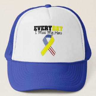 Everyday I Miss My Hero Military Trucker Hat