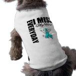 Everyday I Miss My Hero Ovarian Cancer Dog Tee