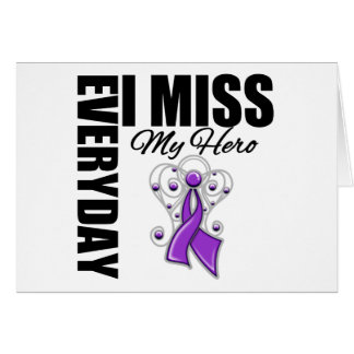 Everyday I Miss My Hero Pancreatic Cancer Cards