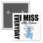 Everyday I Miss My Hero Prostate Cancer Pinback Button