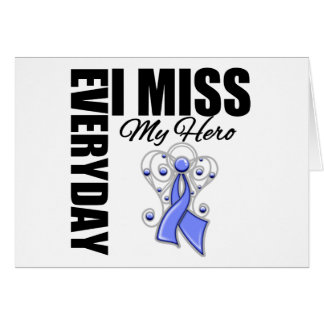 Everyday I Miss My Hero Stomach Cancer Greeting Card