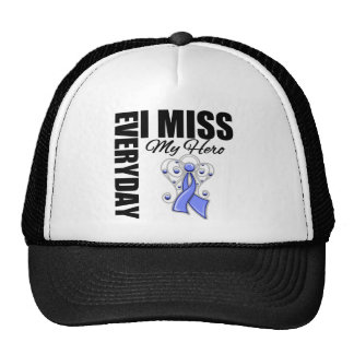 Everyday I Miss My Hero Stomach Cancer Hats