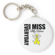 Everyday I Miss My Hero Suicide Prevention Basic Round Button Keychain