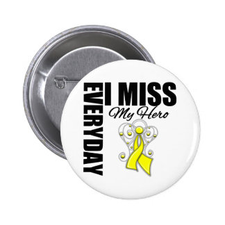 Everyday I Miss My Hero Suicide Prevention Button