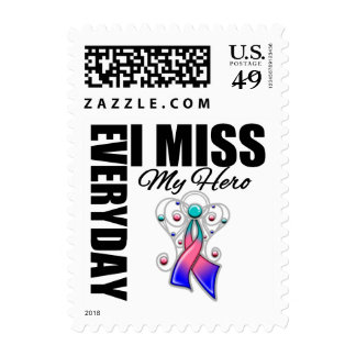 Everyday I Miss My Hero Thyroid Cancer Postage Stamps