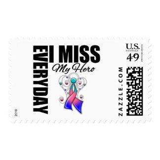 Everyday I Miss My Hero Thyroid Cancer Stamp