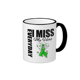 Everyday I Miss My Hero Traumatic Brain Injury Ringer Coffee Mug