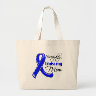 Everyday I Miss My Mom Colon Cancer Jumbo Tote Bag