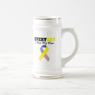 Everyday I Miss My Mom Military Beer Stein