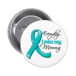 Everyday I Miss My Mommy Ovarian Cancer Buttons