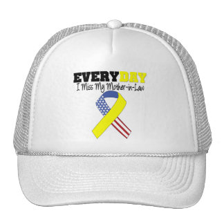 Everyday I Miss My Mother-in-Law Military Trucker Hat