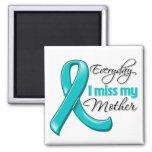 Everyday I Miss My Mother Ovarian Cancer Refrigerator Magnet