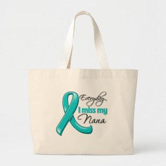 Everyday I Miss My Nana Ovarian Cancer Canvas Bag