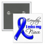 Everyday I Miss My Niece Colon Cancer Pinback Button