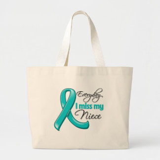 Everyday I Miss My Niece Ovarian Cancer Tote Bags