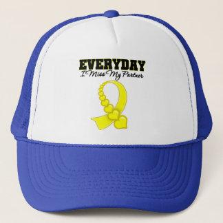 Everyday I Miss My Partner Military Trucker Hat
