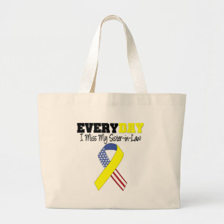 Everyday I Miss My Sister-in-Law Military Large Tote Bag