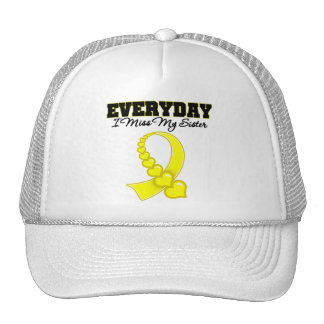 Everyday I Miss My Sister Military Trucker Hat
