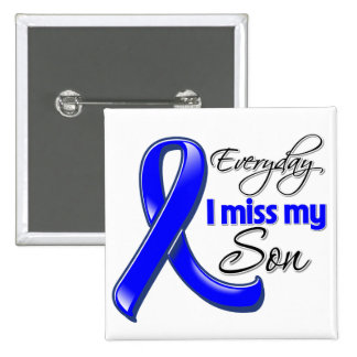 Everyday I Miss My Son Colon Cancer 2 Inch Square Button