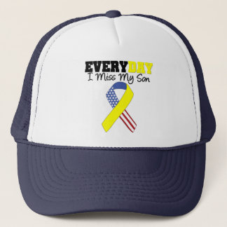 Everyday I Miss My Son Military Trucker Hat