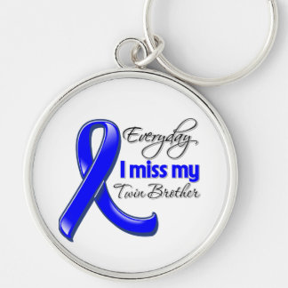 Everyday I Miss My Twin Brother Colon Cancer Key Chain