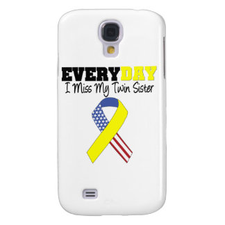 Everyday I Miss My Twin Sister Military Samsung Galaxy S4 Case