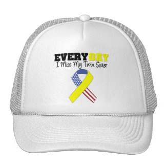 Everyday I Miss My Twin Sister Military Trucker Hat
