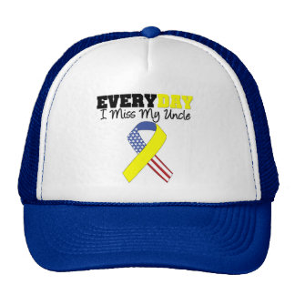 Everyday I Miss My Uncle Military Trucker Hat
