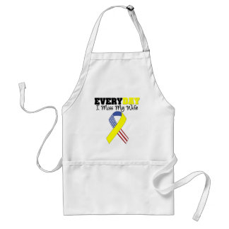 Everyday I Miss My Wife Military Adult Apron