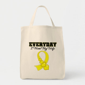 Everyday I Miss My Wife Military Bag