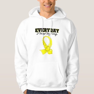 Everyday I Miss My Wife Military Hooded Pullover