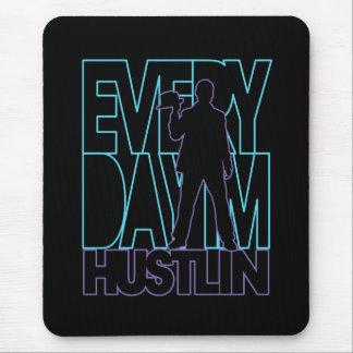 Everyday I'm Hustlin' - Blue / Purple Mouse Pad