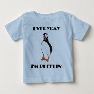 Everyday I'm Pufflin Puffin Bird Baby T-Shirt