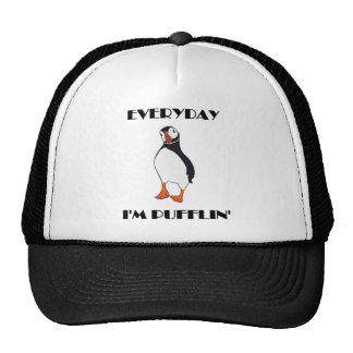 Everyday I'm Pufflin Puffin Bird Trucker Hat