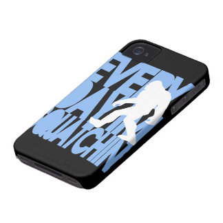 Everyday I'm Squatchin' Black and Blue iPhone 4 Case