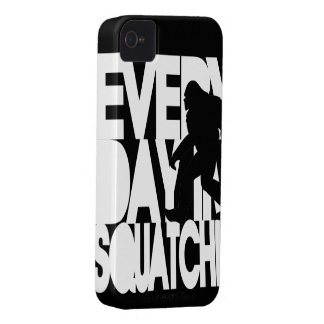 Everyday I'm Squatchin' black and white iPhone 4 Cases