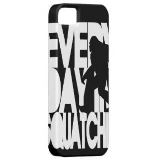 Everyday I'm Squatchin' black and white iPhone 5 Cover