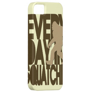 Everyday I'm Squatchin' tan and brown iPhone 5 Covers