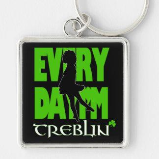 Everyday I'm Treblin 2 Keychain