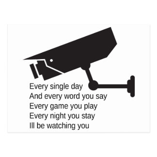Everyday I'm Watching You Postcard