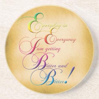 Everyday in Everyway Affirmation Sandstone Coaster