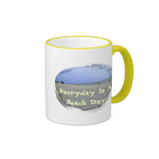 Everyday Is A Beach Day Ringer Coffee Mug