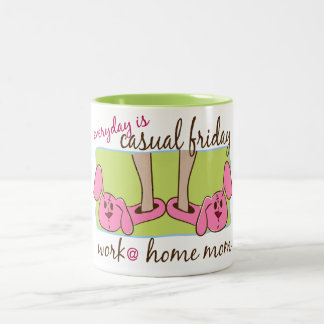 Everyday is Casual Friday (WAHM) Two-Tone Coffee Mug
