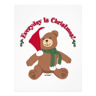 Everyday Is Christmas! ChristmasTeddy Bear Customized Letterhead