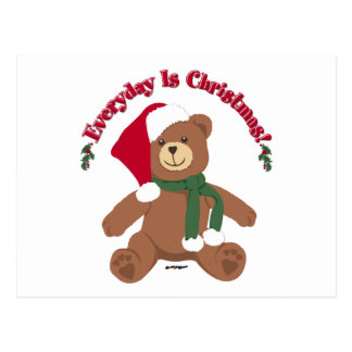 Everyday Is Christmas! ChristmasTeddy Bear Postcards
