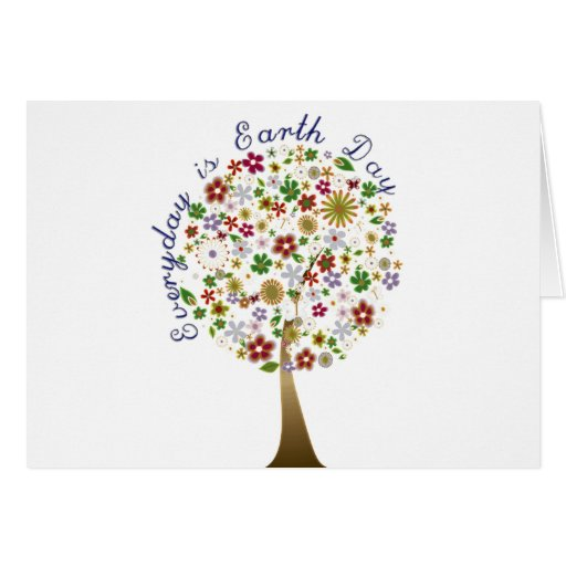 Everyday is earth day card