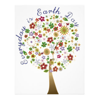 Everyday is earth day flyer design