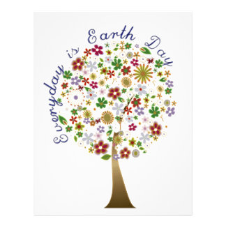 Everyday is earth day personalized letterhead
