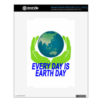 EVERYDAY IS EARTH DAY.png Decals For The NOOK
