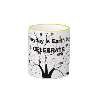 Everyday is Earth Day Tree of Life Original Design Ringer Mug